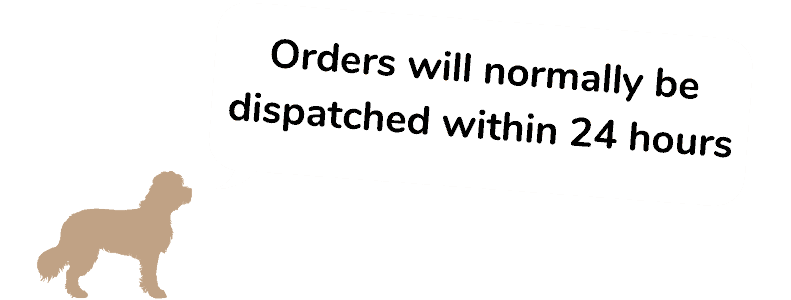 Orders will normally be dispatched within 24 hours