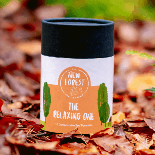 Relaxing Tea - The Relaxing One from New Forest Tea Company Pyramid Tea bags
