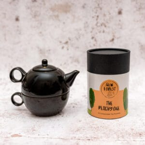 The pannage pot set black and peachy one tea